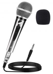 Ankuka Wired Dynamic Karaoke Microphone