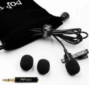 PoP voice Professional Lavalier Lapel Microphone