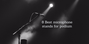 microphone stands for podium
