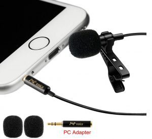 PoP voice Lavalier Lapel Microphone