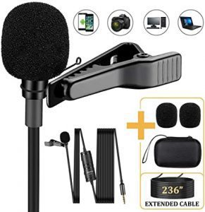 Soonpho Professional Lavalier Lapel Microphone