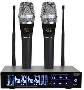 GEARDON Rechargeable Dual Wireless Microphone System