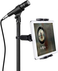 JUBOR Tablet Mounts for Microphone Stands