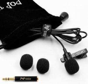 PoP voice Professional Lavalier Lapel Microphone