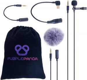 Purple Panda Lavalier Lapel Microphone