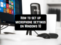 How to set up microphone settings on Windows 10